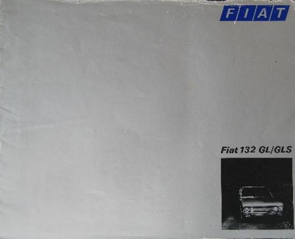 Fiat 132 GL Automobilprospekt 1974