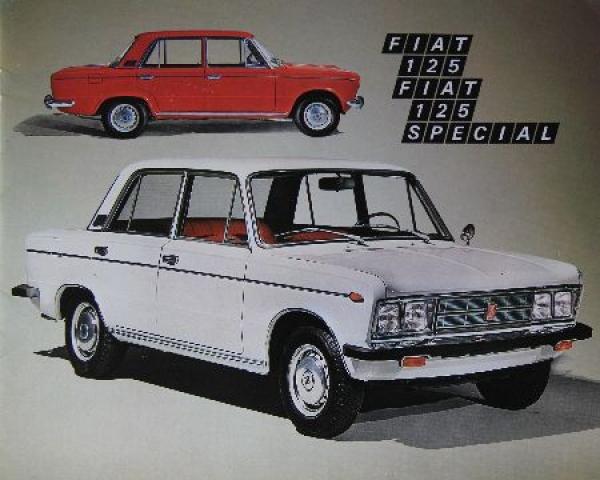 Fiat 125 Modellprogramm 1971 Automobilprospekt