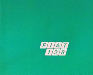 Fiat 128 Modellprogramm 1969 Automobilprospekt