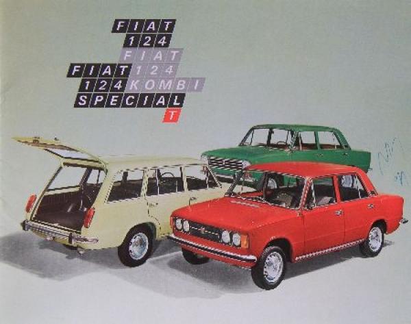 Fiat 124 Modellprogramm 1971 Automobilprospekt