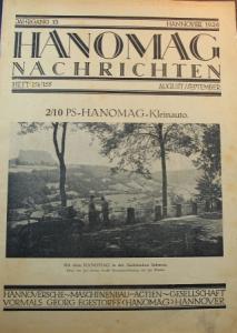 """""""Hanomag Nachrichten"""" Firmen-Magazin 1926"""
