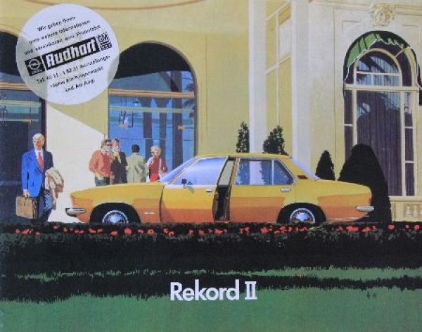 Opel Rekord Modellprogramm 1972 Automobilprospekt