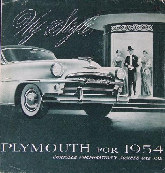 Plymouth Modellprogramm 1954 Automobilprospekt