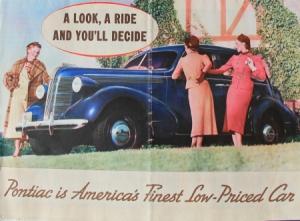 Pontiac Modellprogramm 1937 Automobilprospekt