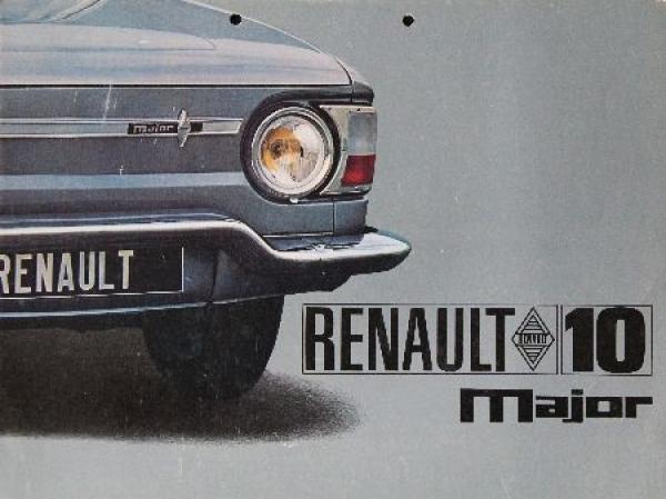 Renault R 10 Major Automobilprospekt 1966
