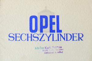 Opel Sechszylinder Modellprogramm 1928 Automobilprospekt