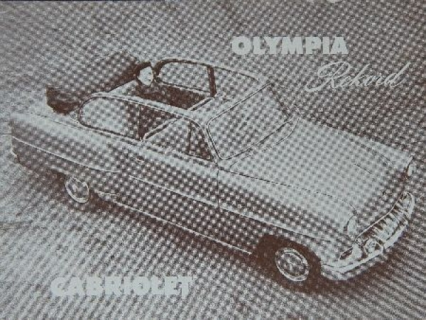 Opel Rekord Cabriolet 1954 Automobilprospekt