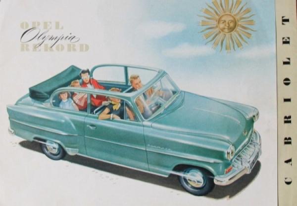 Opel Olympia Rekord Cabriolimousine 1954 Automobilprospekt