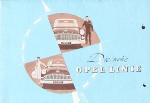 Opel Rekord Modellprogramm 1955 Automobilprospekt
