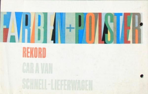 Opel Rekord Caravan Polster+Farben 1961 Automobilprospekt