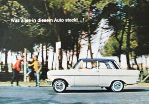 Opel Kadett Modellprogramm 1962 Automobilprospekt