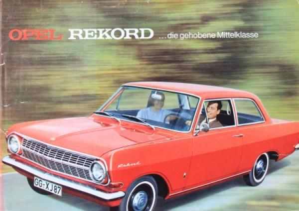 Opel Rekord Modellprogramm 1964 Automobilprospek