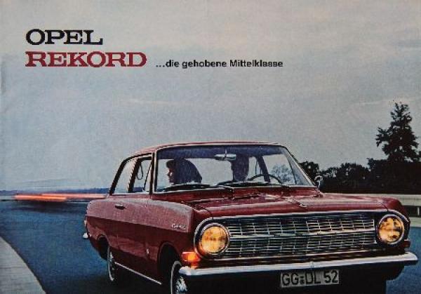 Opel Rekord Modellprogramm 1964 Automobilprospekt