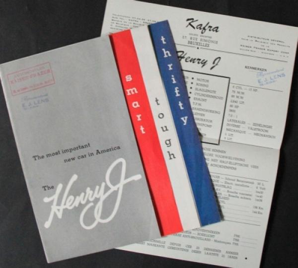Kaiser Henry J Modellprogramm 1950 Automobilprospekt