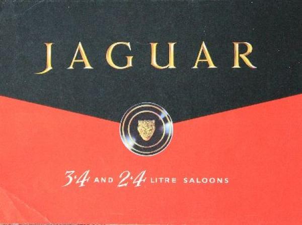 Jaguar Saloon Modellprogramm 1951 Automobilprospekt