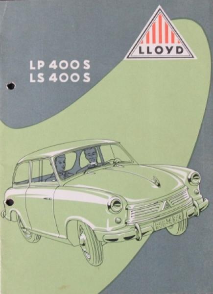 Lloyd LP 400 S Automobilprospekt 1958 (8466)