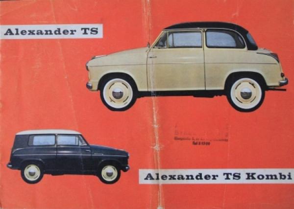 Lloyd Alexander TS 1958 Automobilprospekt