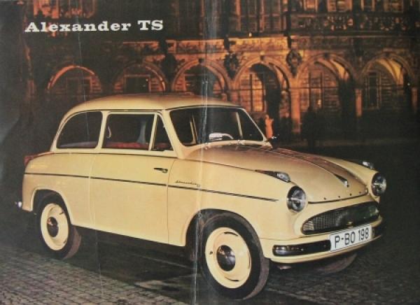 Lloyd Alexander TS 1958 Automobilprospekt 1