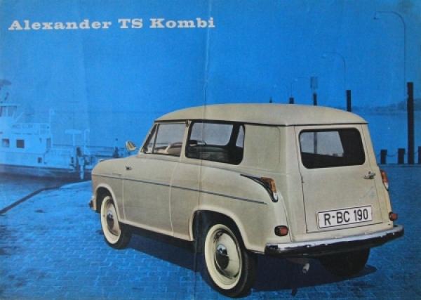 Lloyd Alexander TS 1958 Automobilprospekt 2