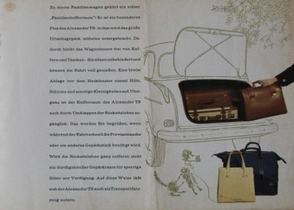 Lloyd Alexander TS 1958 Automobilprospekt 3