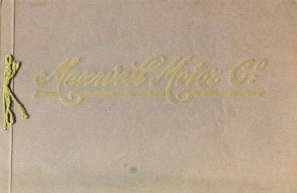 Maxwell Motors Modellprogramm 1919 Automobilprospekt