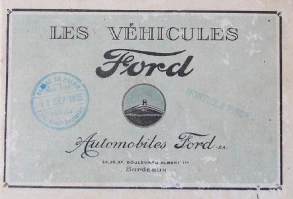 Ford Modellprogramm 1924 Automobilprospekt
