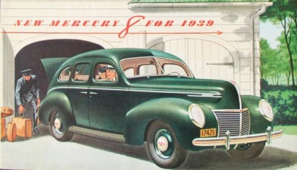 Ford Mercury 8 - 1939 Automobilprospekt