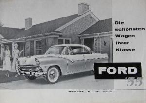 Ford Modellprogramm 1955 Automobilprospekt