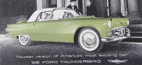 Ford Thunderbird Modellprogramm 1956 Automobilprospekt