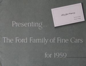 Ford Modellprogramm 1959 Automobilprospekt