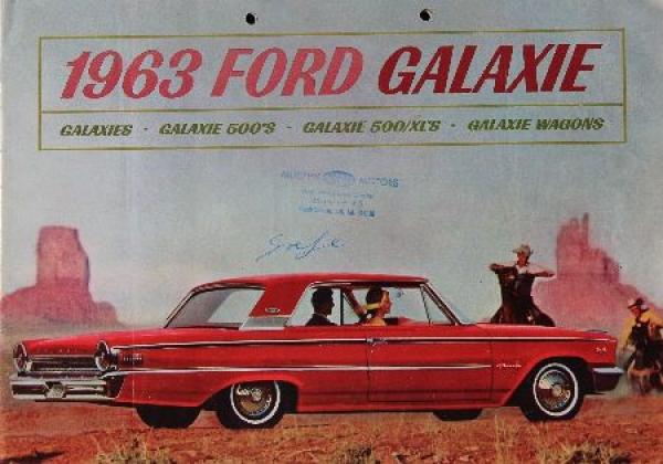 Ford Galaxie Modellprogramm 1963 Automobilprospekt