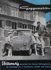 Glas Goggomobil Modellprogramm 1958 Automobilprospekt