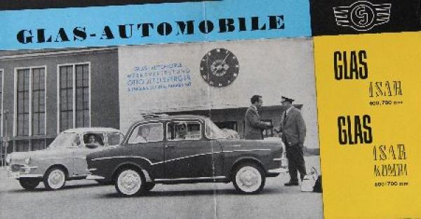 Glas Isar Modellprogramm 1958 Automobilprospekt