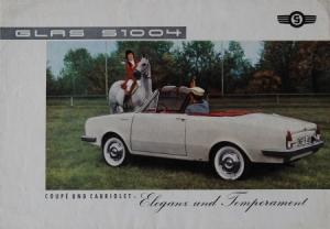 Glas S 1004 Cabriolet 1965 Automobilprospekt