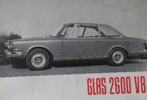 Glas 2600 V8 - 1966 Automobilprospekt