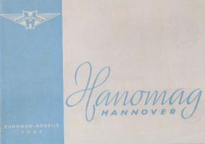 Hanomag Modellprogramm 1937 Automobilprospekt