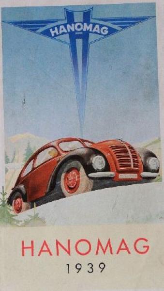 Hanomag Modellprogramm 1939 Automobilprospekt