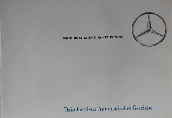 Mercedes Benz Automatisches Getriebe 1964 Automobilprospekt