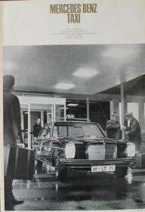 Mercedes Benz Taxi 1967 Automobilprospekt
