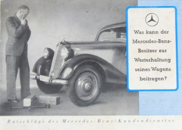 Mercedes Benz 170V Modellprogramm 1936 Automobilprospekt