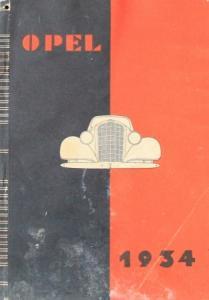 Opel Modellprogramm 1934 Automobilprospekt