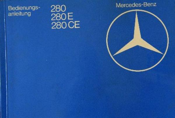 Mercedes Benz 280 CE Betriebsanleitung 1980