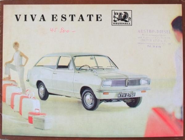 Vauxhall Viva Estate 1969 Automobilprospekt