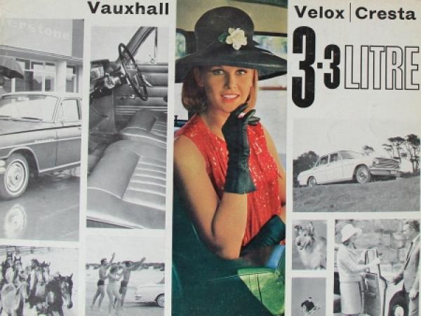 Vauxhall Velox Cresta 3,3 Liter Automobilprospekt 1964