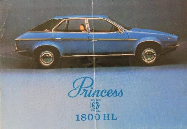 Princess 1800 HL 1975 Automobilprospekt
