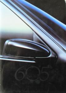 Peugeot 605 Modellprogramm 1992 Automobilprospekt