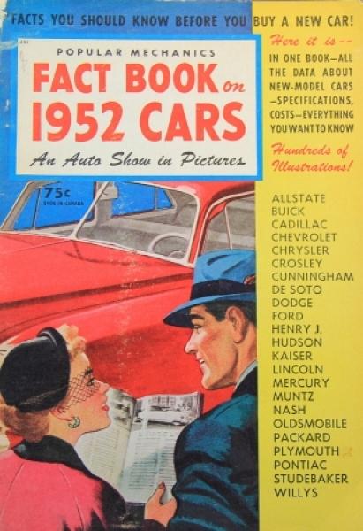 "Popular Mechanics ""Factbook on 1952 Cars"" Automobil-Jahrbuch 1952"