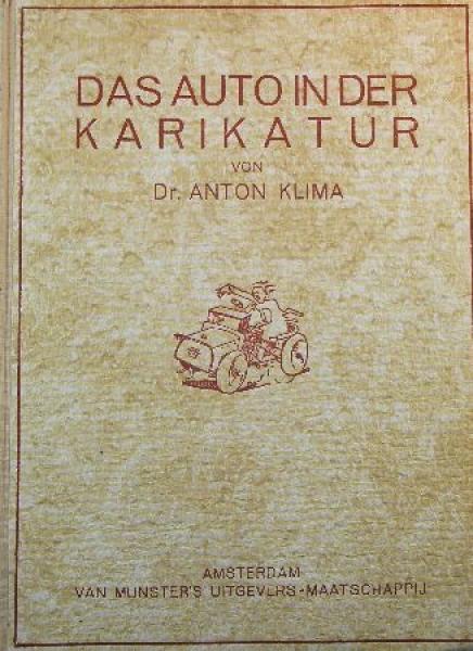 """Klima """"Das Auto in der Karikatur"""" Automobil-Historie 1928"""
