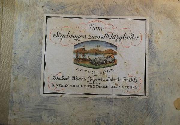 """""""Vom Segelwagen zum Achtzylinder"""" Sammelalbum 1928"""