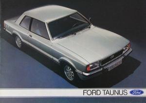 Ford Taunus Modellprogramm 1976 Automobilprospekt